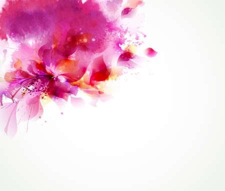 Illustration pour Abstract background with flower and design elements - image libre de droit
