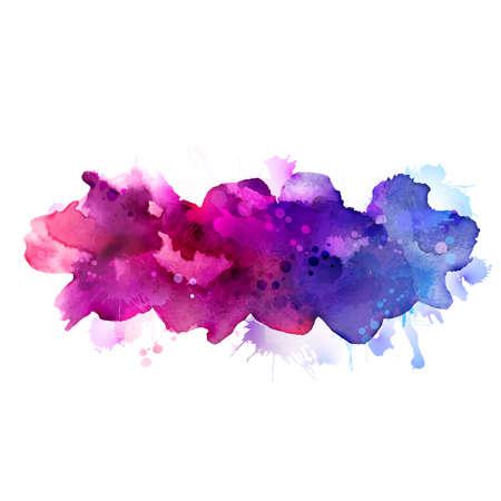 Illustration pour Purple and blue watercolor stains - image libre de droit