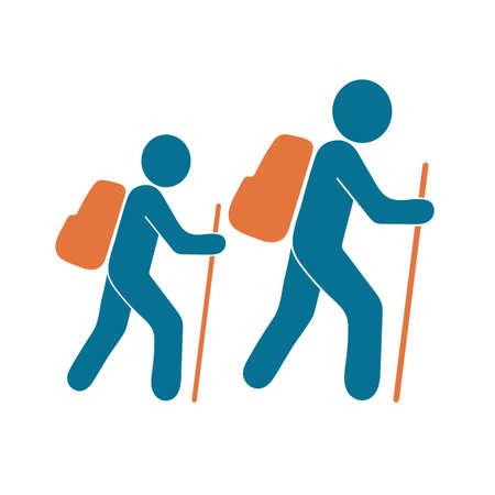 Illustration pour Hiking icon illustration isolated vector sign symbol - image libre de droit