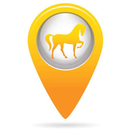 Illustration pour Horse silhouette icon, vector illustration - image libre de droit