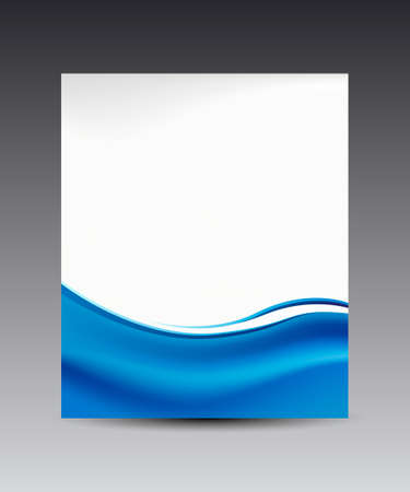 Ilustración de blue waves banner background, for web & business - Imagen libre de derechos