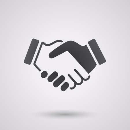 Illustration pour black icon handshake. background for business and finance - image libre de droit