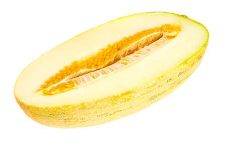 Photo pour Half-cut ripe juicy melon. Studio Photo - image libre de droit