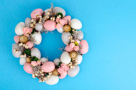 Photo for Colorfull Beautiful festive Easter wreath.  Photo - Royalty Free Image