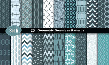Illustration for Geometric Seamless Patterns - Royalty Free Image
