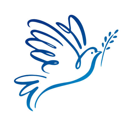 Illustration pour Dove of peace icon. - image libre de droit