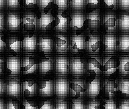 Illustration pour Seamless black and white pattern camouflage of dots. Vector illustration - image libre de droit
