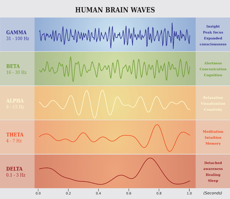Illustration pour Human Brain Waves Diagram Chart Illustration - image libre de droit