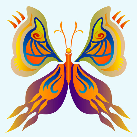 Illustration pour Butterfly Illustration - Multiple Colors - Tattoo - image libre de droit