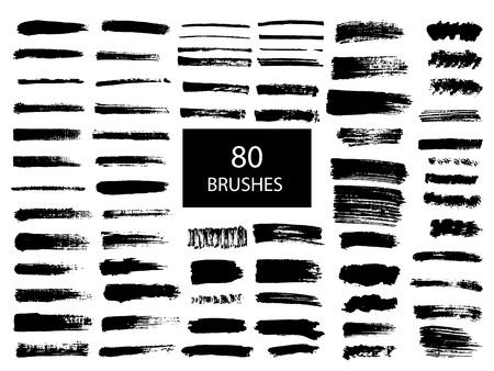 Ilustración de Painted grunge stripes set. - Imagen libre de derechos