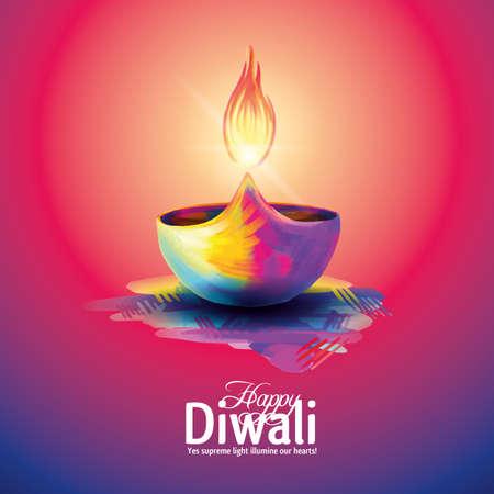 Illustrazione per Deepavali light and fire festival. - Immagini Royalty Free