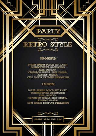 Ilustración de vector retro pattern for vintage party - Imagen libre de derechos