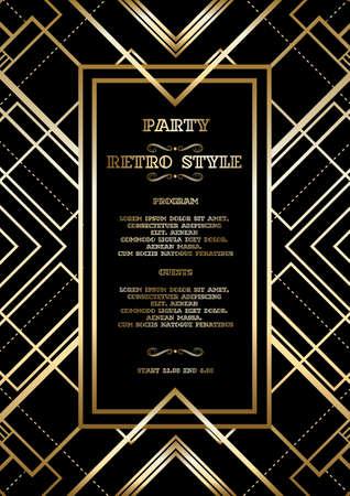 Ilustración de Retro pattern for vintage party - Imagen libre de derechos