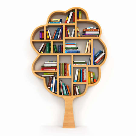 Photo pour Library books tree education - image libre de droit