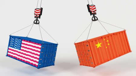 Photo pour 3D Render of US Import Tarrifs - image libre de droit