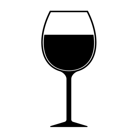 Illustration for Wine Glass Silhouette Icon Vector Isolated - Royalty Free Image