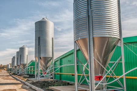 Foto de agricultural large industrial factory farm - Imagen libre de derechos