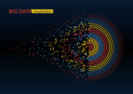 Ilustración de Abstract colorful big data machine learning algorithm visualization. - Imagen libre de derechos
