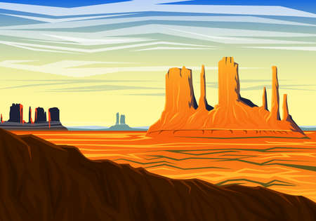 Illustration for Morning panoramic view of peak early in a daylight. - Royalty Free Image