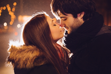 Photo for Young couple in love outdoor - Royalty Free Image