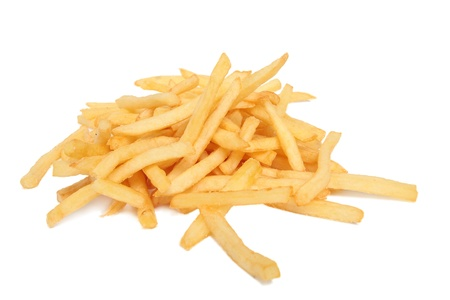 Photo pour French fries isolated on white - image libre de droit