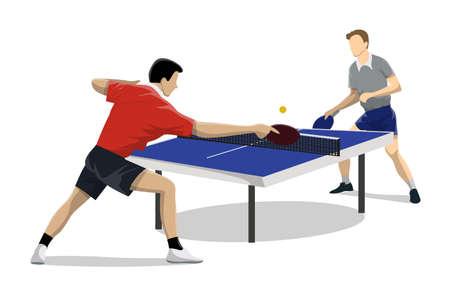 Ilustración de Table tennis two. - Imagen libre de derechos