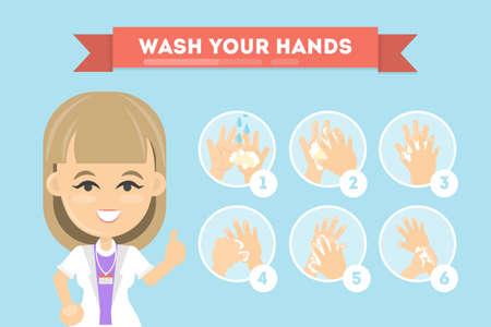 Ilustración de Wash your hands. - Imagen libre de derechos