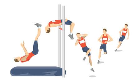 Illustration for High jump set. - Royalty Free Image