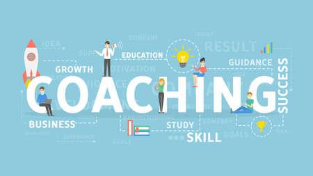Ilustración de Coaching concept illustration. - Imagen libre de derechos
