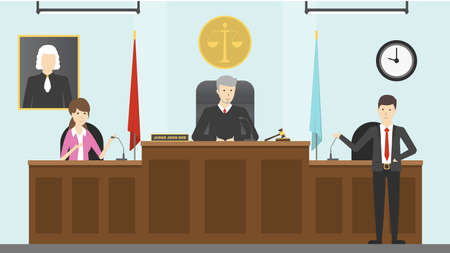 Illustration pour Judical court interior. - image libre de droit