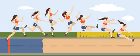 Illustration for Triple jump moves. - Royalty Free Image