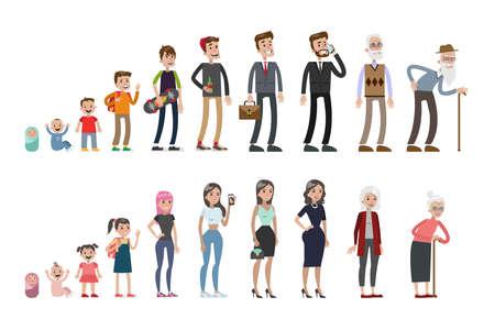 Illustration pour Life stages set. - image libre de droit