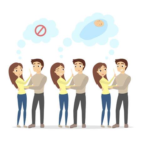 Ilustración de Pregnancy test illustration. - Imagen libre de derechos
