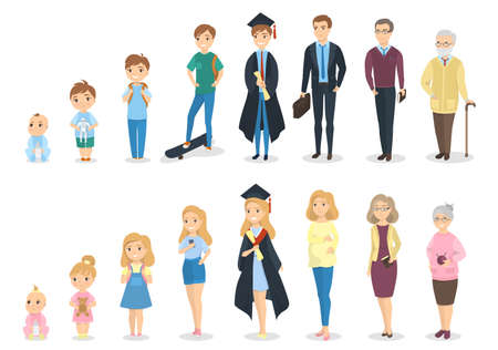 Illustrazione per Stages of human growth icon. - Immagini Royalty Free