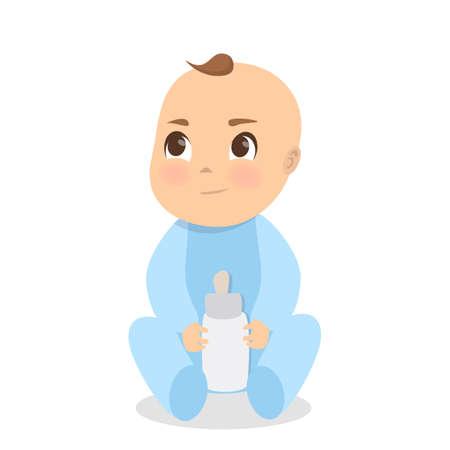 Illustration pour Cartoon baby image illustration - image libre de droit