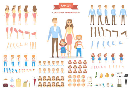 Illustration pour Family characters set. - image libre de droit