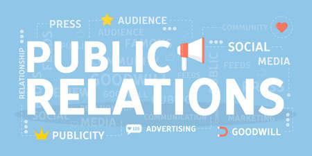 Ilustración de Public relations concept. - Imagen libre de derechos