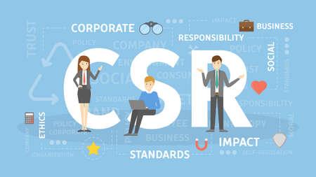 Illustrazione per CSR concept illustration. - Immagini Royalty Free
