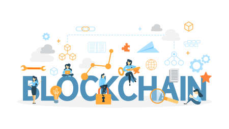 Illustration for Blockchain concept illustration. - Royalty Free Image