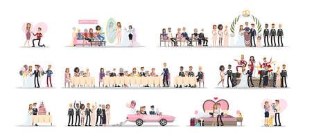 Illustration for Wedding couple set. - Royalty Free Image
