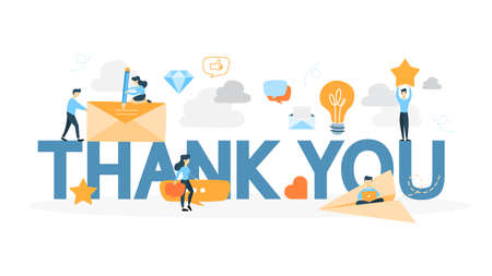 Illustration pour Thank you sign. - image libre de droit