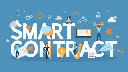 Illustration pour Smart contract concept. - image libre de droit