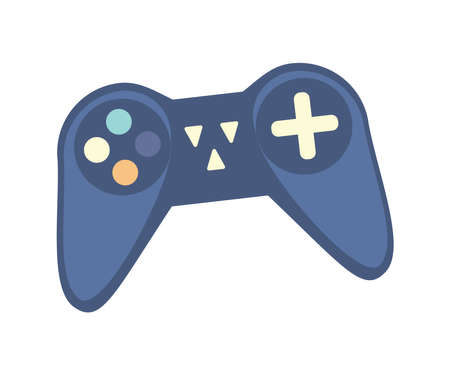 Illustration pour Wireless controller for game console. Game gadget for entertainment, gaming device, video game joypad isolated vector illustration. - image libre de droit