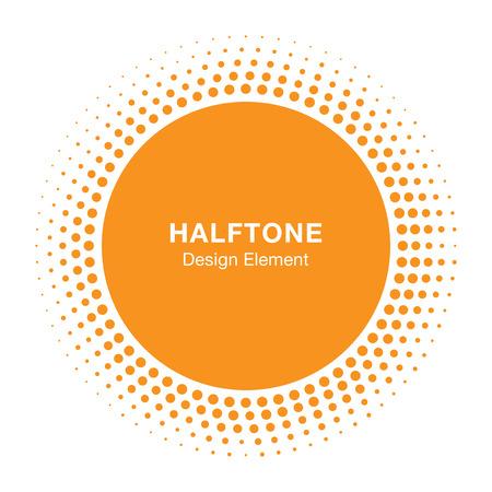 Illustration for Sunny Halftone Design Element, vector illustration  - Royalty Free Image