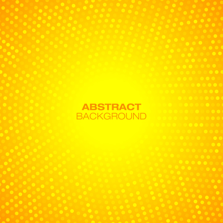 Illustration pour Abstract Circular Orange Background. Vector illustration  - image libre de droit