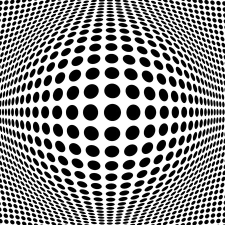 Illustration for Abstract Black Halftone Background - Royalty Free Image