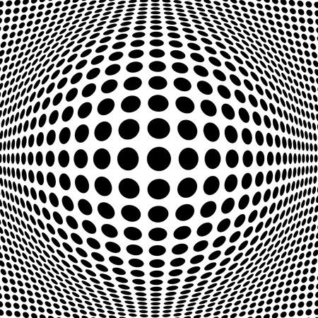 Illustration pour Abstract Black Halftone Background - image libre de droit