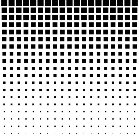 Ilustración de Black Abstract Halftone Square Dot Background - Imagen libre de derechos