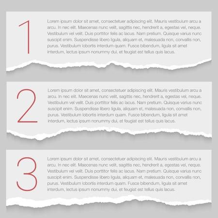 Ilustración de Set of lacerated papers - Imagen libre de derechos