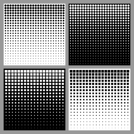 Illustration pour Set of Abstract Halftone Backgrounds - image libre de droit
